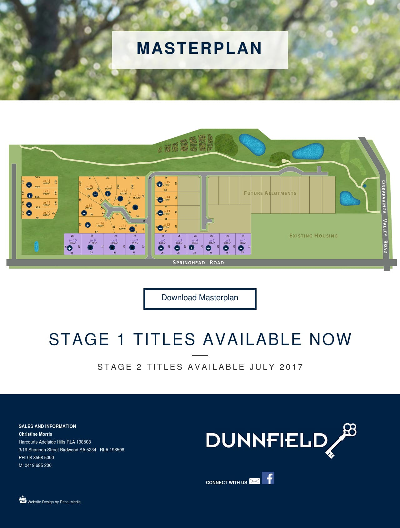 Dunnfield interactive masterplan page