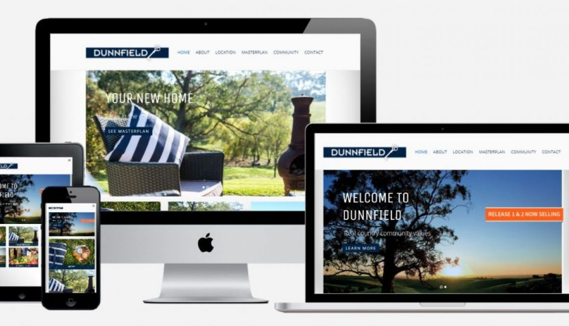 Dunnfield website on different devices