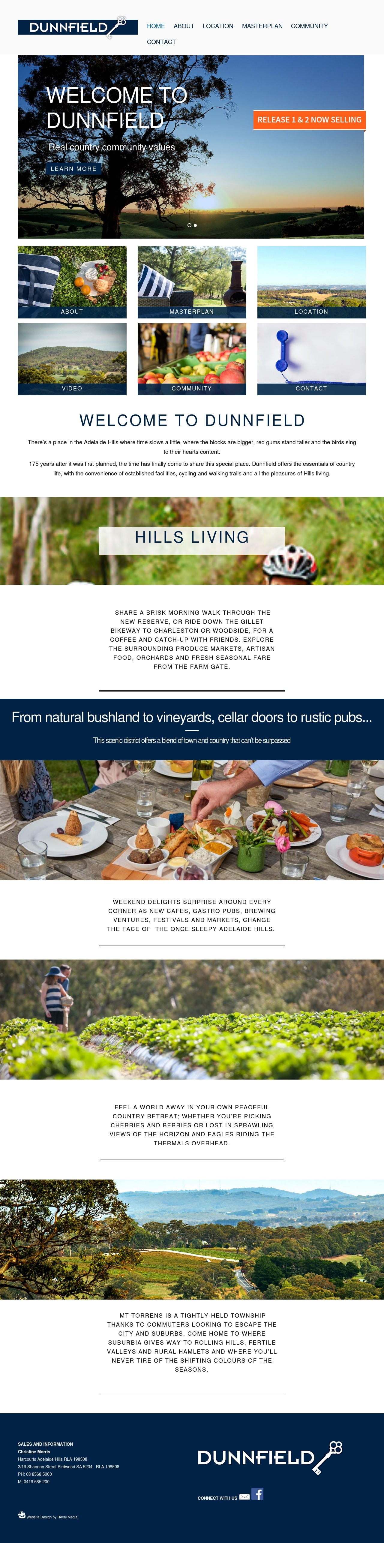 dunnfield website homepage