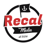 recal media logo transparent bg grunge