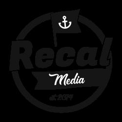 Recal Media Logo All black TP BG sqaure-01