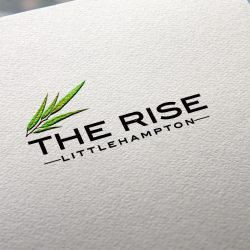 Natural Paper Printed the rise Logo MockUp