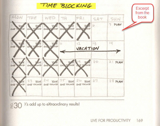 time blocking monthly checkoff calendar example