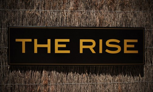 the rise front sign