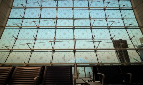 Dubai Airport window by recal media