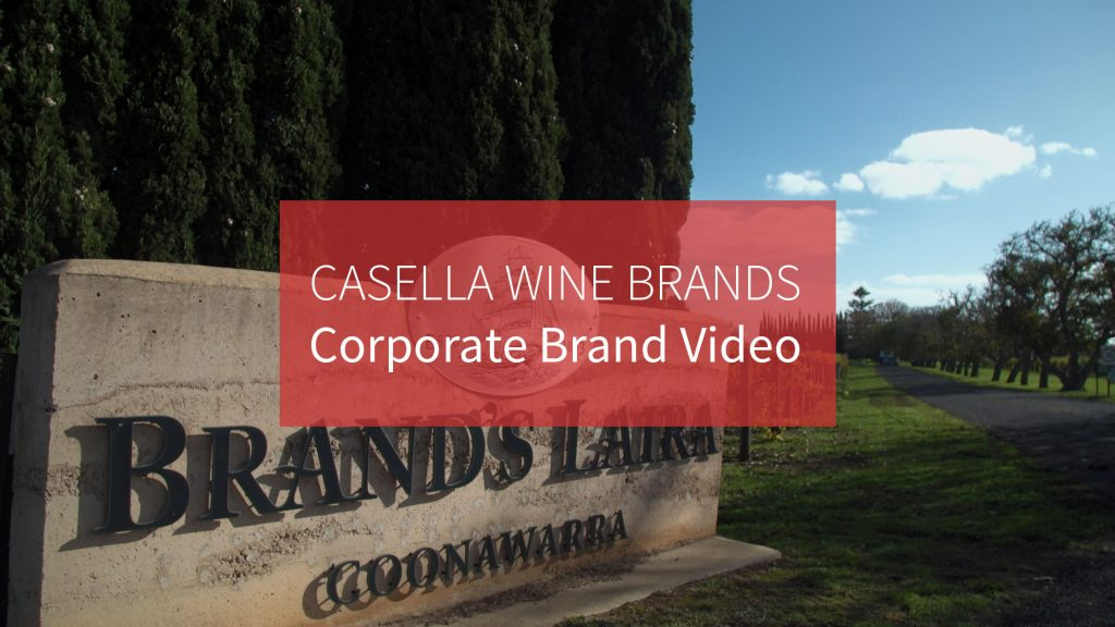 Casella wines corporate brand video image