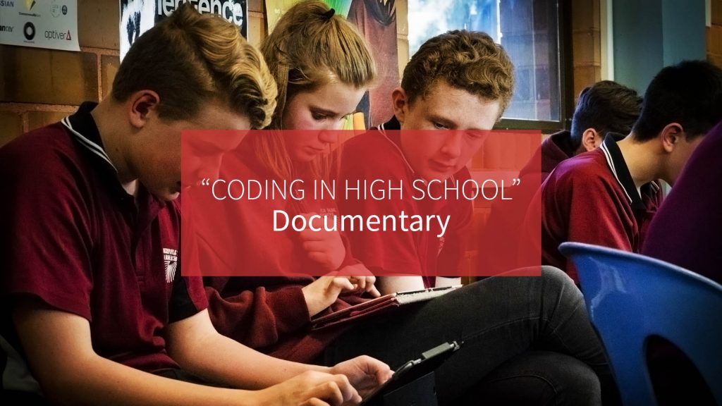 APHS learning to code in high school documentary image